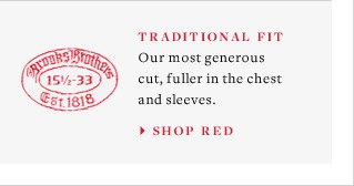 TRADITIONAL FIT - SHOP RED