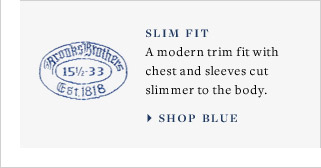SLIM FIT - SHOP BLUE