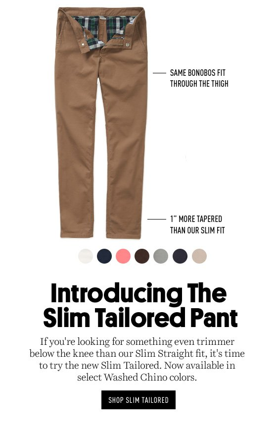 Slim Tailored Washed Chinos