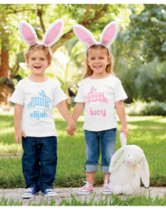 personalized bunny appliqué tee