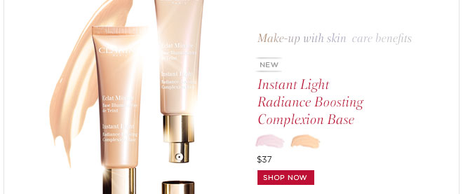 New! Instant light radiance boosting complexion base. Shop Now>