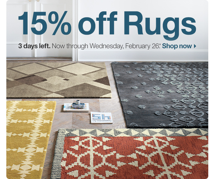 15% off Rugs