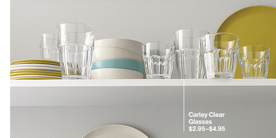 Carley Clear Glasses