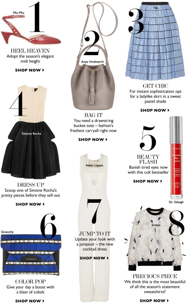 THE BUYERS' HOTLIST. SHOP NOW