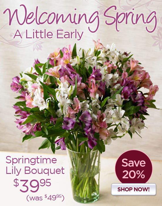 Spring Comes Early-Save 20%!