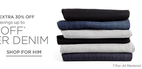 Up to 55% off Denim for her & him