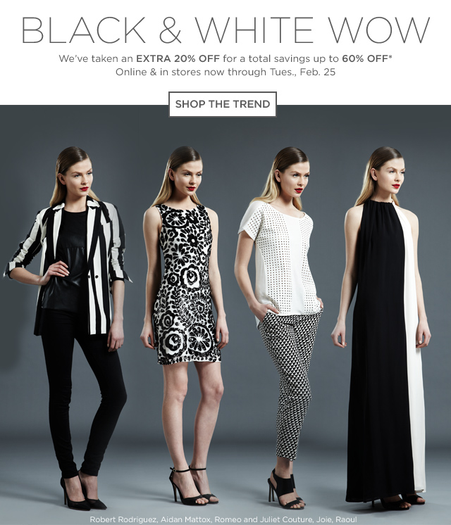 Up to 60% off Black And White Trends