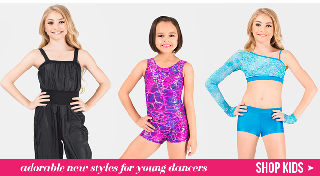Shop new kids dancewear.