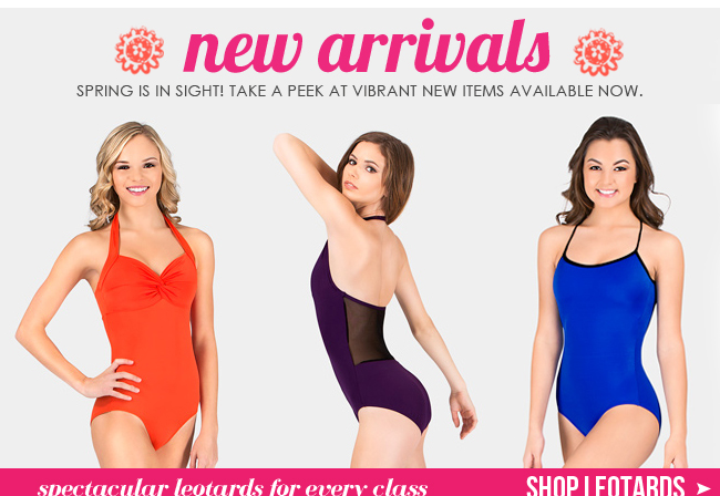 Shop new leotards.