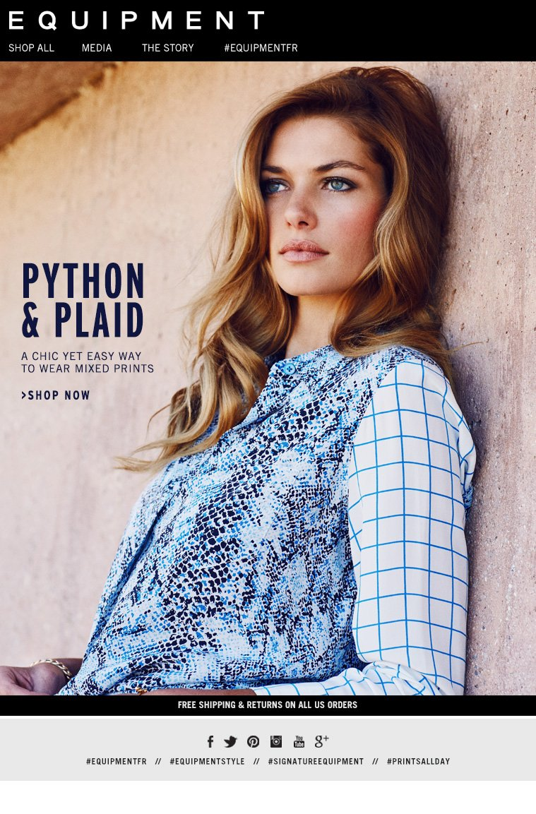 PYTHON & PLAID A CHIC YET EASY WAY TO WEAR MIXED PRINTS >SHOP NOW