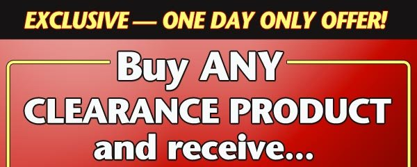 Buy ANY Clearance Product