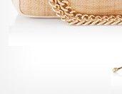 No. 7 Quilt Petite Straw Shoulder Bag
