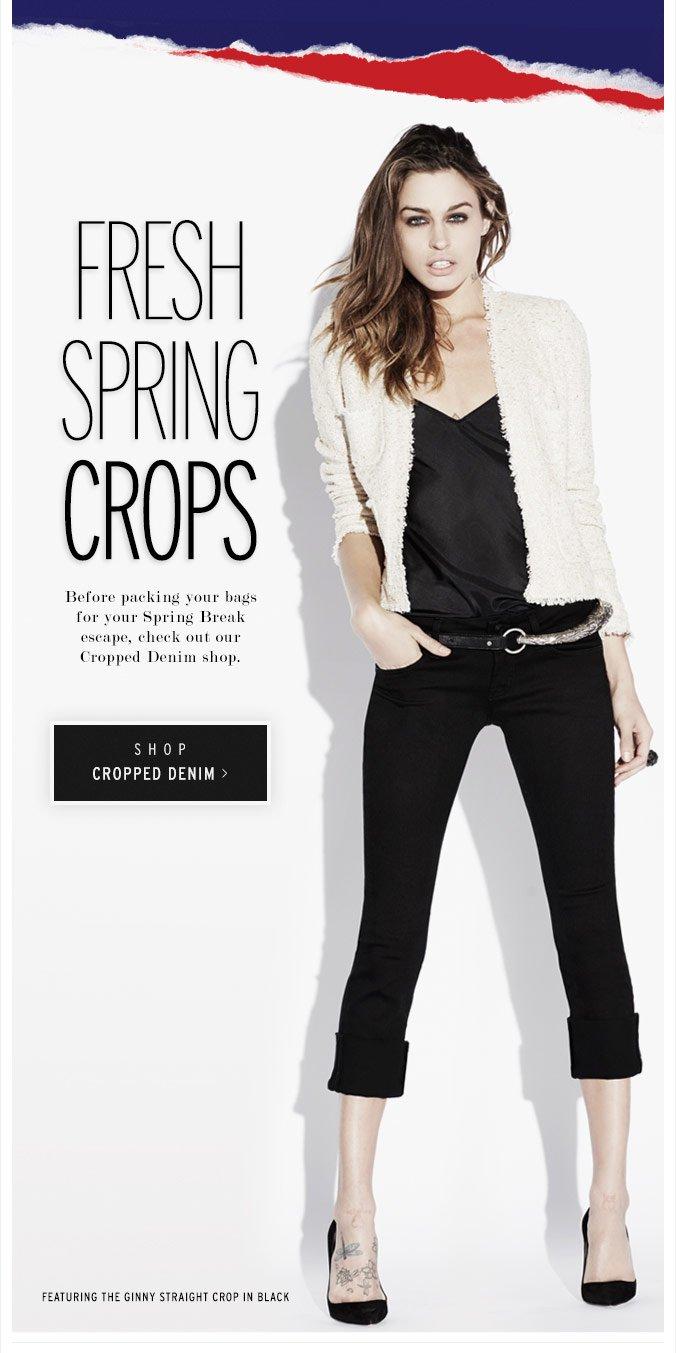 Fresh Spring Crops - Cropped Denim