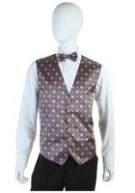 Mardi Gras Vest and Tie Set