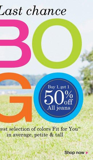 BOGO 50% off Jean Sale