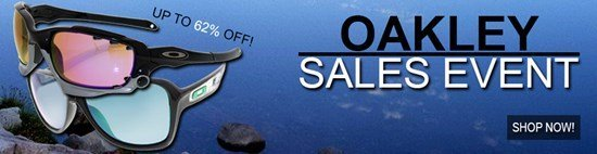 Save up to 62% during the Oakley Sunglasses sales event