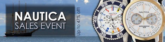 Save up to 47% during the Nautica Watches sales event