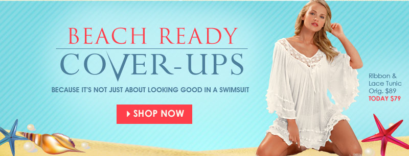 Because it's not just about looking good in a swimwuit! SHOP Cover-Ups!