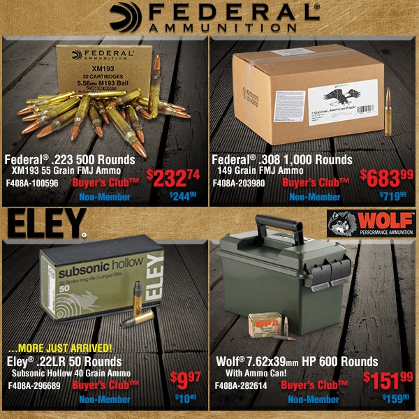 Ammo Just Arrived In Stock!