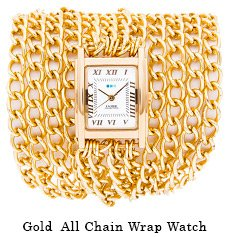 Gold All Chain Wrap Watch