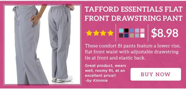 Tafford Essentials Flat Front Drawstring Pant - Buy Now