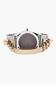 MAISON MARTIN MARGIELA Silver & Gold Watch Bracelet for women