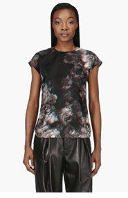 MAISON MARTIN MARGIELA Black 3D Floral print T-shirt for women