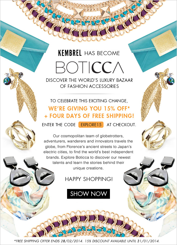 Welcome to Boticca.com - 15% off use code EXPLORE15