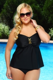 Women's Plus Size Swimwear - Always For Me Separates Status Link Underwire Tankini Top