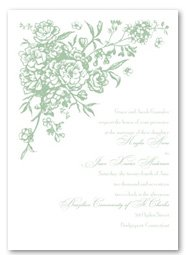 French Floral Fashion Invitation