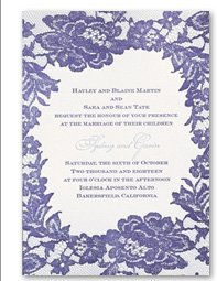 Surrounded in Lace Letterpress Invitation