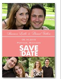 Color Block Photo Save the Date Magnet