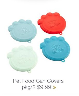 Pet Food  Can Covers pkg/2 $9.99 »