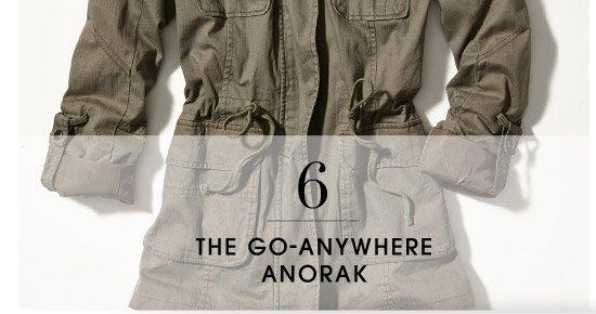 6 THE GO-ANYWHERE ANORAK
