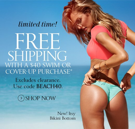 Free Shipping With A $40 Swim Or Cover-Up Purchase