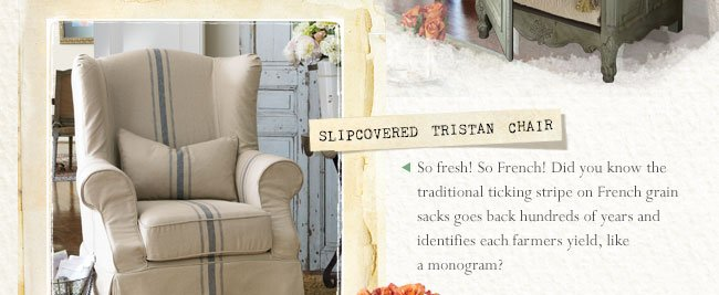 Slipcovered Tristan Chair