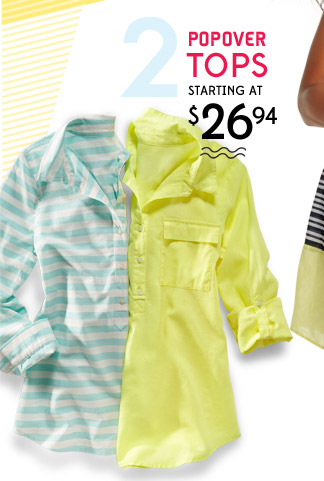 2 | POPOVER TOPS STARTING AT $26.94
