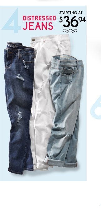 4 | DISTRESSED JEANS STARTING AT $36.94