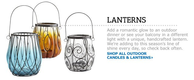 Outdoor Candles & Lanterns