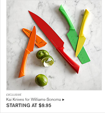 EXCLUSIVE - Kai Knives for Williams-Sonoma - STARTING AT $9.95