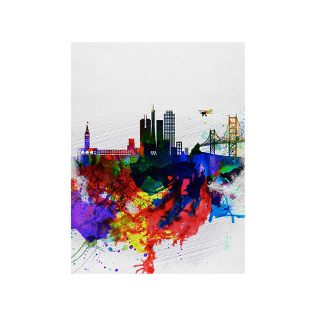San Francisco Watercolor Skyline