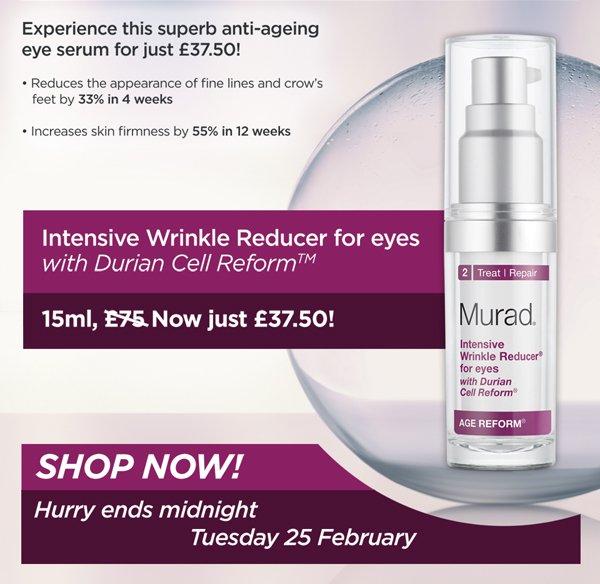 Intensive Wrinkle Reducer for Eyes: 15ml, £75