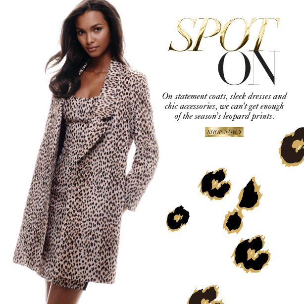 Spot On: On statement coats, sleek dresses and chic accessories, we can't get enough of the season's leopard prints. Shop Now.