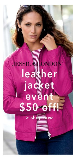 Shop Jessica London Leather Jacket Event