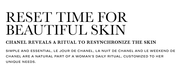 RESET TIME FOR BEAUTIFUL SKIN