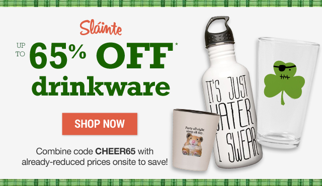 Up to 65% off drinkware with code CHEER65