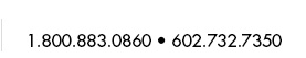 Customer Service 1.800.883.0860 or 1.623.551.0060