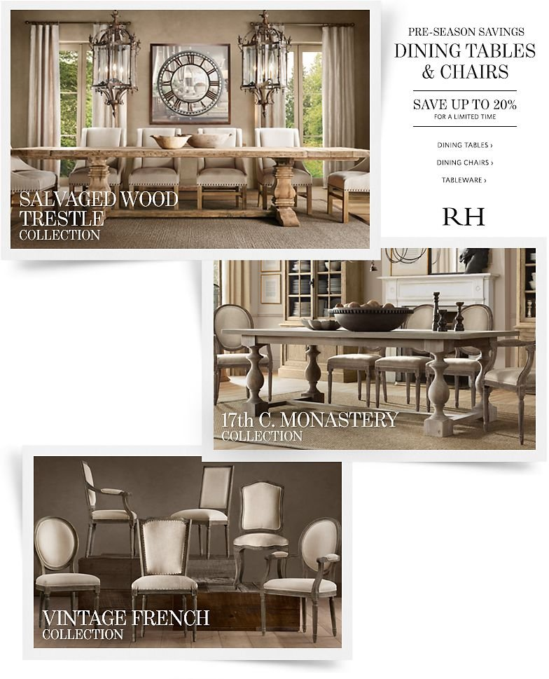 Save up to 20% on Dining Tables, Dining Chairs and Tableware.
