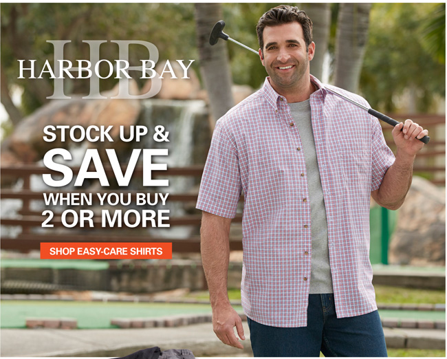 Harbor Bay & Canyon Ridge Easy Care Short Sleeve Shirts Mix and Match