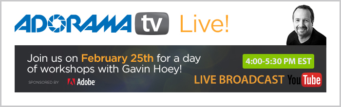 AdoramaTV Live Presents Gavin Hoey TODAY at 4PM-5PM!